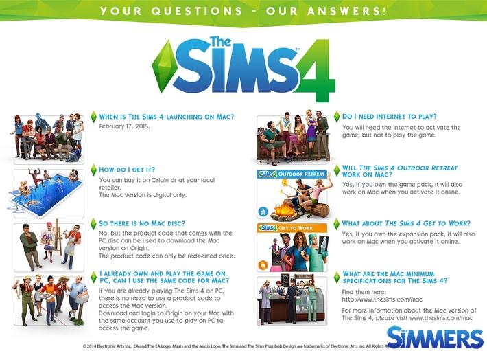 #Notícia - The Sims 4 para Mac - Perguntas Frequentes