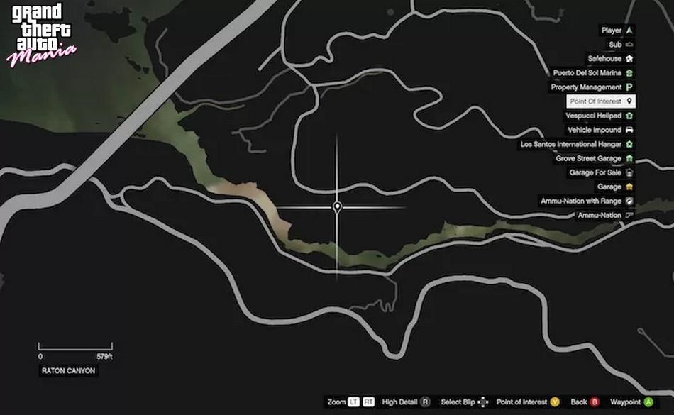 mapa como encontrar pé grande