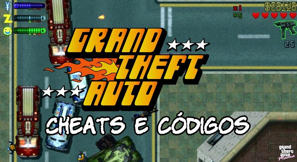 Cheats e códigos para Grand Theft Auto