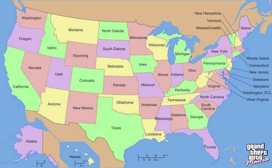 Localização de GTA 6: Possívelmente terá o mapa dos EUA inteiro em escala reduzida