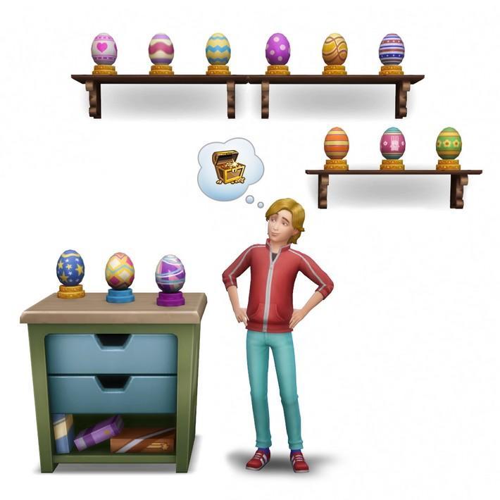 Cultive Plantafrutas e procure ovos no Desafio da Primavera do The Sims