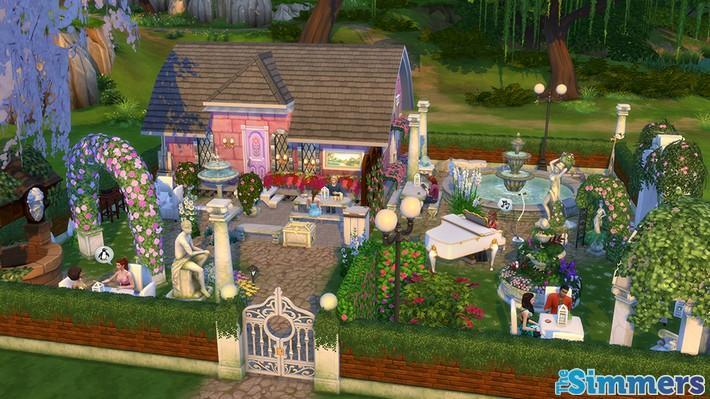 9 Lotes Incríveis do The Sims 4 Jardim Romântico Coleção de Objetos (7)