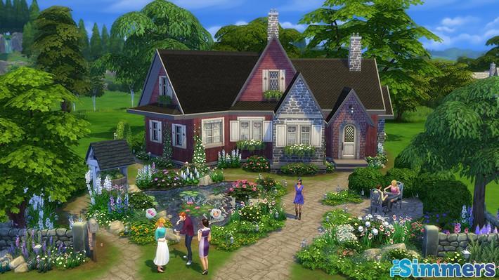 9 Lotes Incríveis do The Sims 4 Jardim Romântico Coleção de Objetos (8)