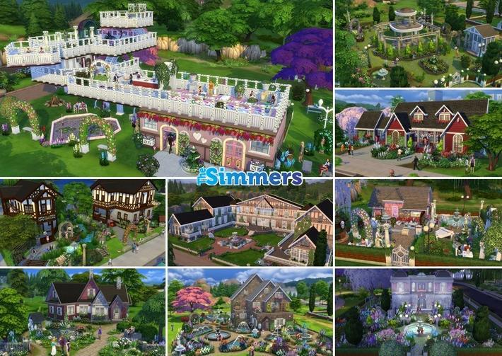 9 Lotes Incríveis do The Sims 4 Jardim Romântico Coleção de Objetos