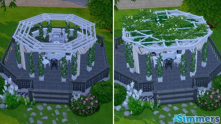 Como criar um terraço incrível no The Sims 4 (7)