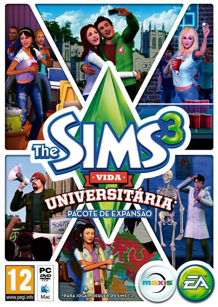 the sims 3 vida universitária