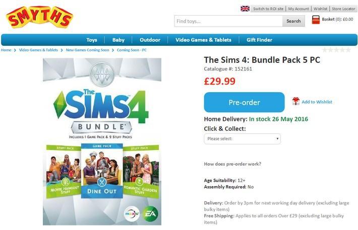 #NOTICIA - Primeiros detalhes de The Sims Dine Out