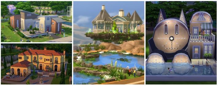 construa casas no the sims 4
