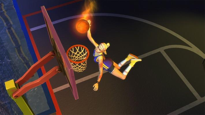 Jogue sem parar com os videogames e a bola de basquete no The Sims 4 Vida na Cidade