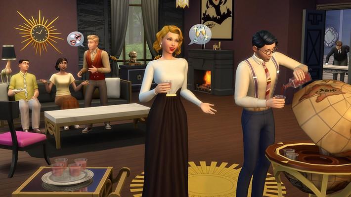 Revisite o clássico com The Sims 4 Glamour Vintage Coleção de Objetos