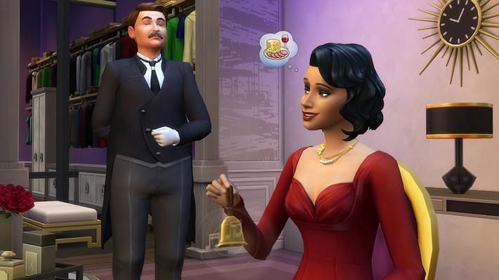 mordomo The Sims 4 Glamour Vintage Coleção de Objetos