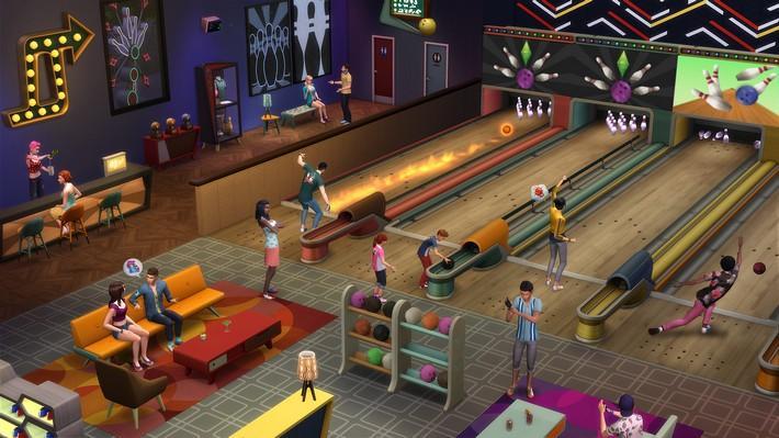 Vá para as pistas com o The Sims 4 Noite de Boliche Coleção de Objetos! 4