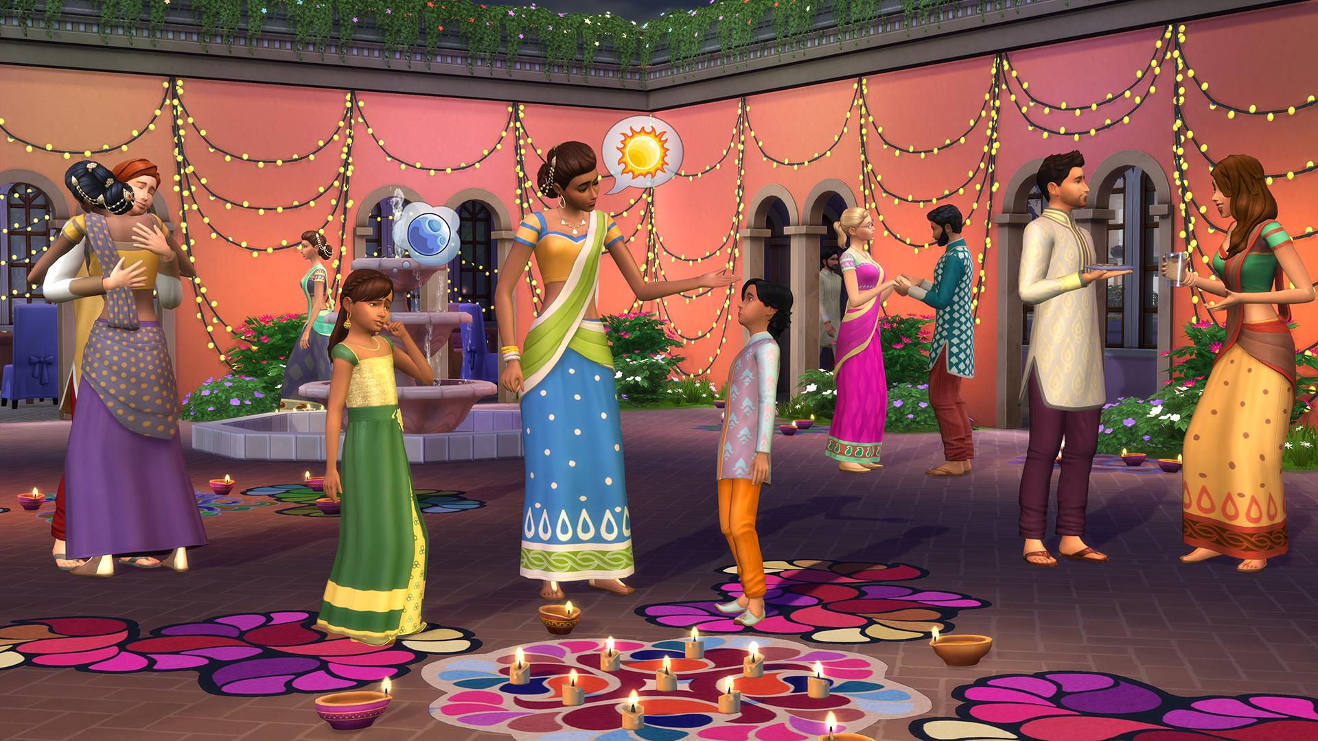 Comemore o Diwali no jogo The Sims 4 hoje