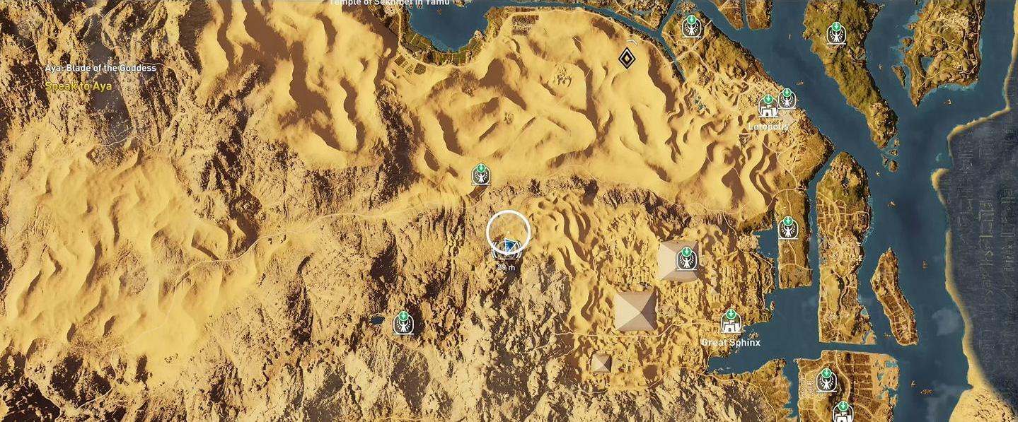 Localização e soluções das tumbas secretas em Assassin's Creed Origins 41