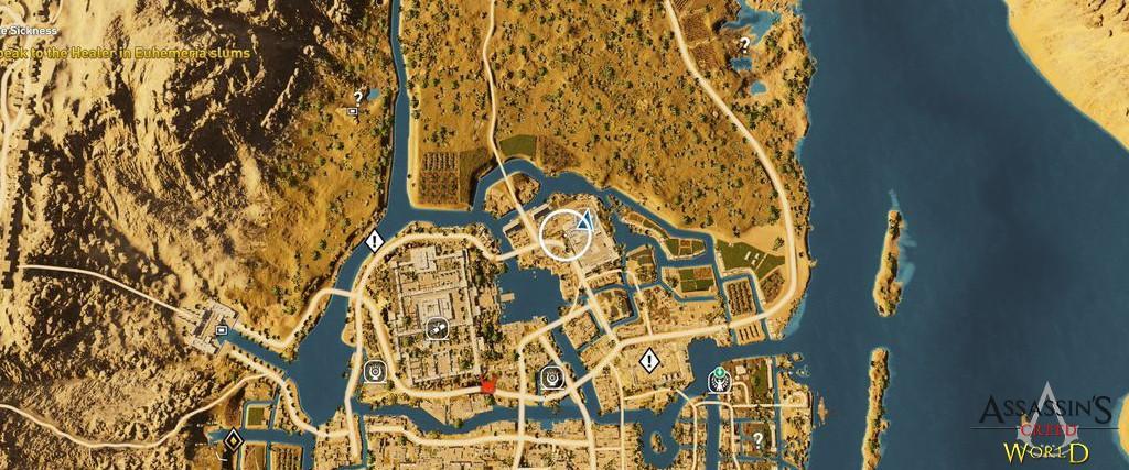 Localização e solução de todos os Papiros em Assassin's Creed Origins 139