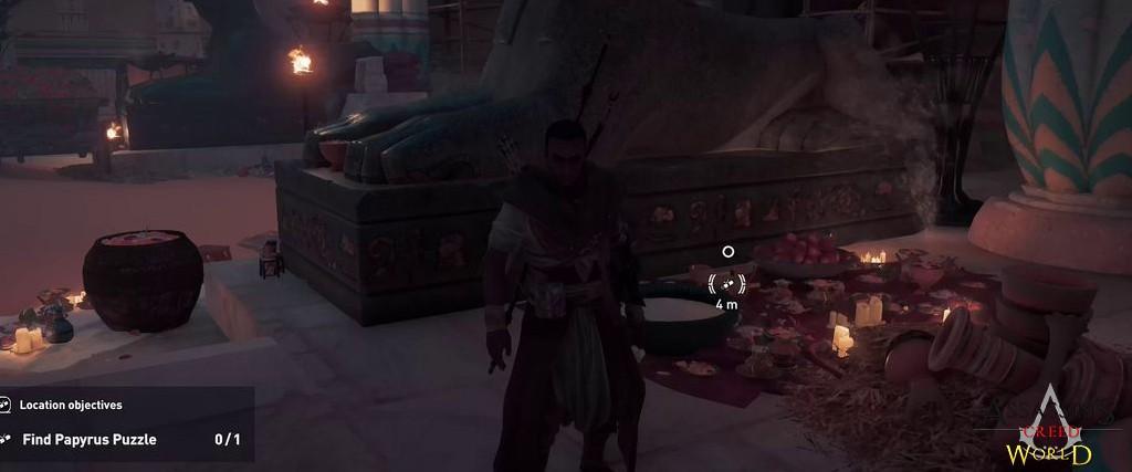 Localização e solução de todos os Papiros em Assassin's Creed Origins 144