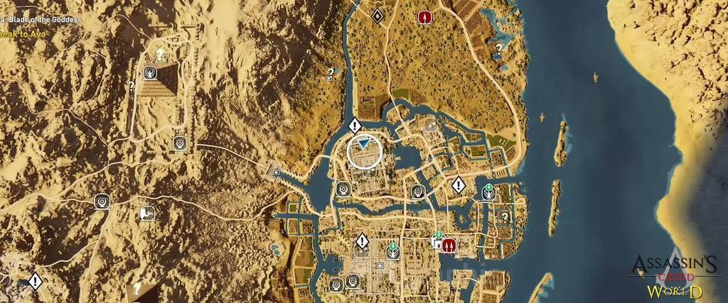Localização e solução de todos os Papiros em Assassin's Creed Origins 147