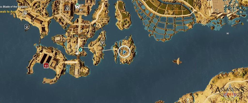 Localização e solução de todos os Papiros em Assassin's Creed Origins 149