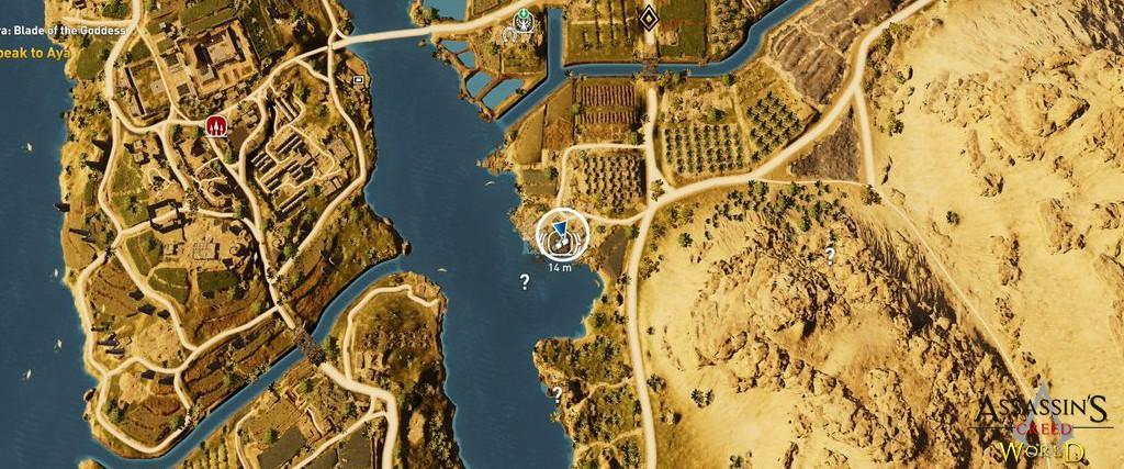 Localização e solução de todos os Papiros em Assassin's Creed Origins 155