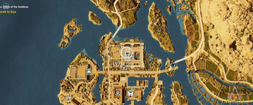 Localização e solução de todos os Papiros em Assassin's Creed Origins 159