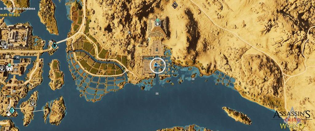 Localização e solução de todos os Papiros em Assassin's Creed Origins 161