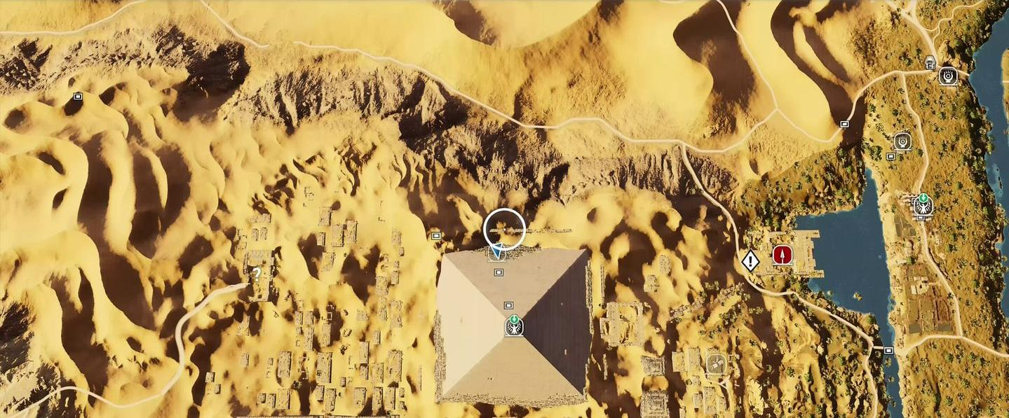 Localização e soluções das tumbas secretas em Assassin's Creed Origins 57
