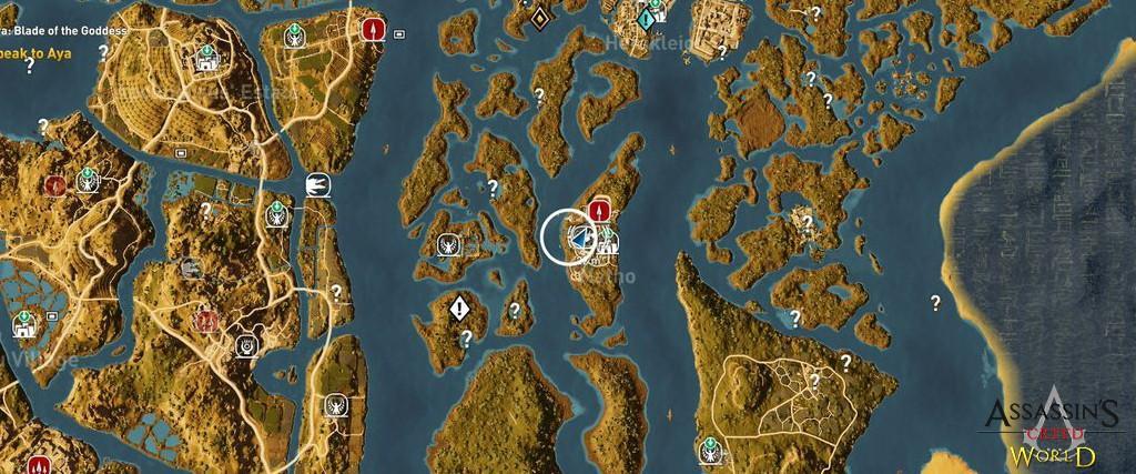 Localização e solução de todos os Papiros em Assassin's Creed Origins 163