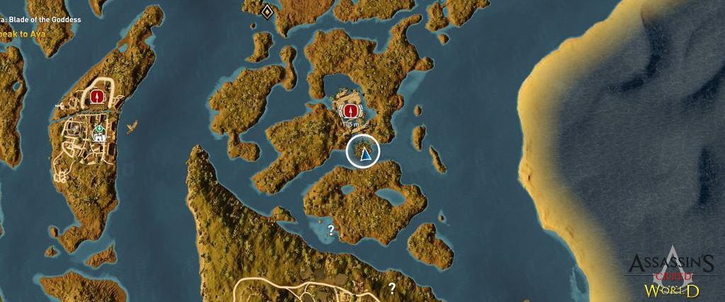 Localização e solução de todos os Papiros em Assassin's Creed Origins 165