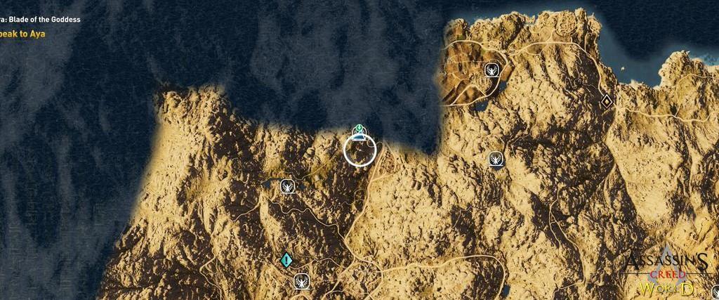 Localização e solução de todos os Papiros em Assassin's Creed Origins 167