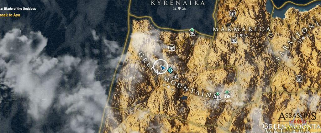 Localização e solução de todos os Papiros em Assassin's Creed Origins 169