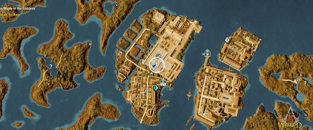 Localização e solução de todos os Papiros em Assassin's Creed Origins 171