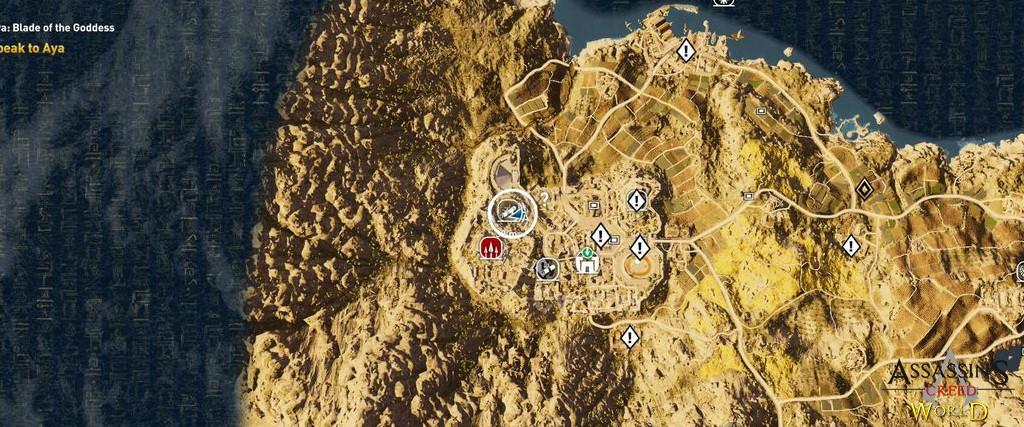 Localização e solução de todos os Papiros em Assassin's Creed Origins 179