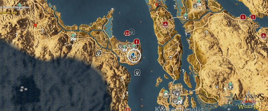 Localização e solução de todos os Papiros em Assassin's Creed Origins 183
