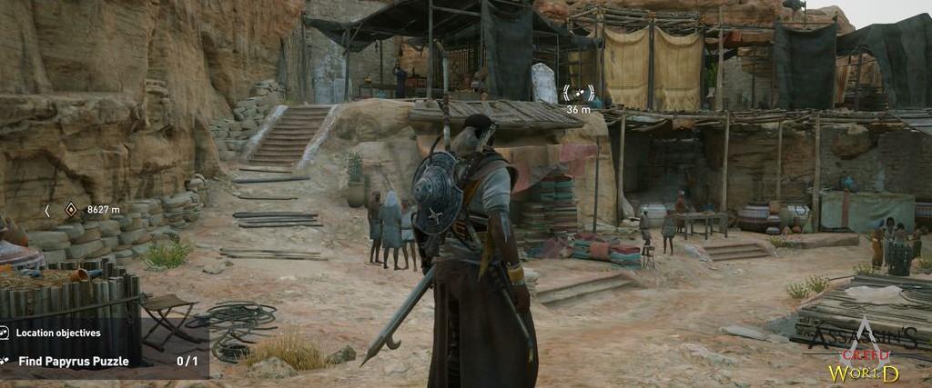 Localização e solução de todos os Papiros em Assassin's Creed Origins 184