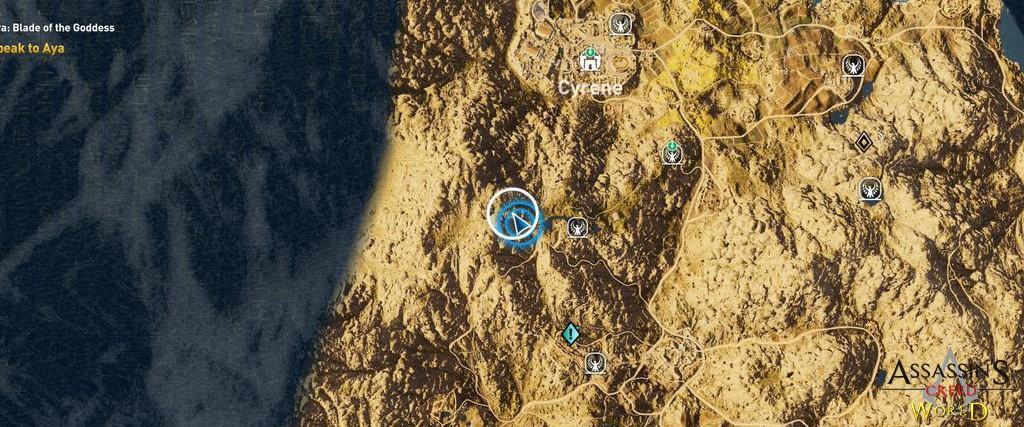 Localização e solução de todos os Papiros em Assassin's Creed Origins 189