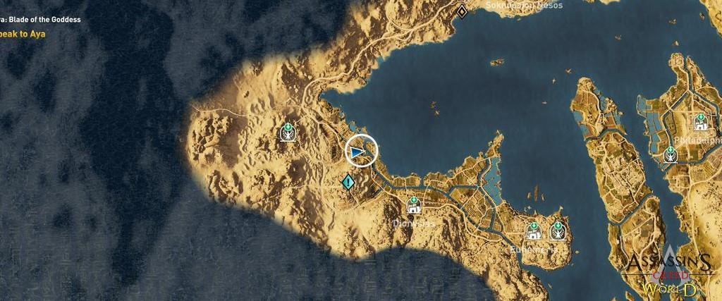 Localização e solução de todos os Papiros em Assassin's Creed Origins 193