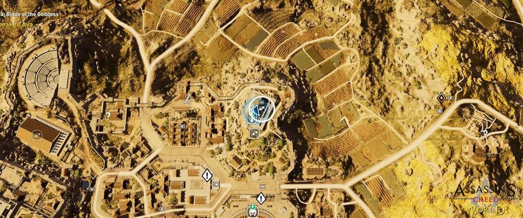 Localização e solução de todos os Papiros em Assassin's Creed Origins 195