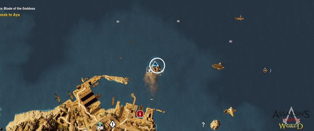 Localização e solução de todos os Papiros em Assassin's Creed Origins 197