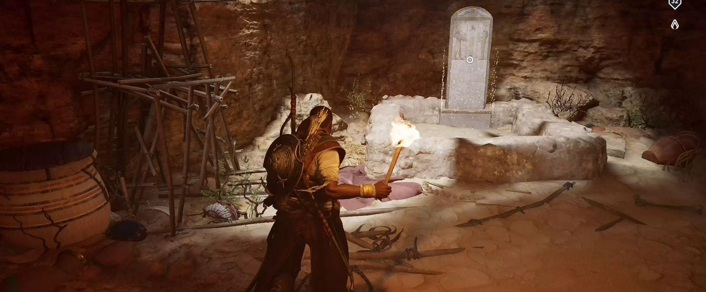 Localização e soluções das tumbas secretas em Assassin's Creed Origins 70