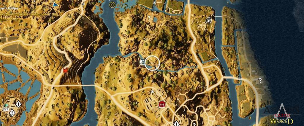 Localização e solução de todos os Papiros em Assassin's Creed Origins 113