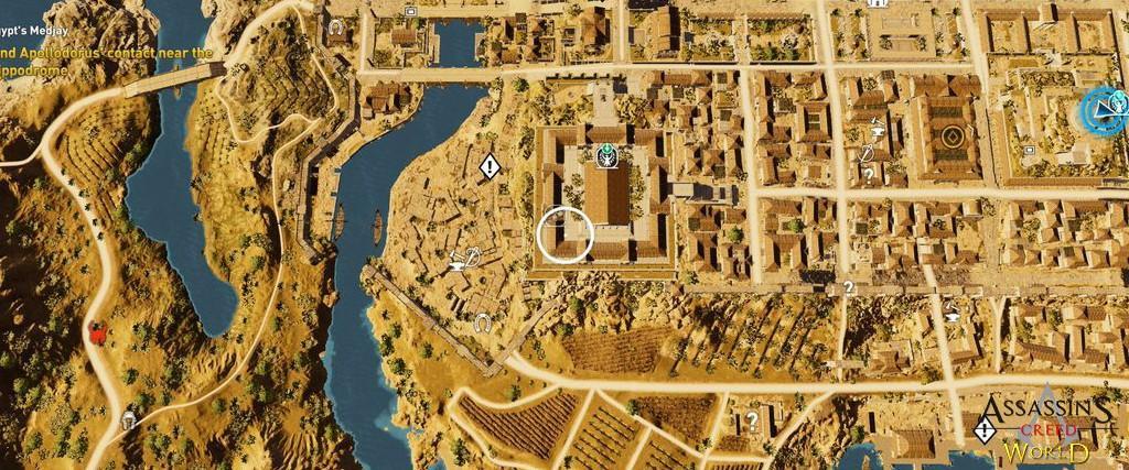 Localização e solução de todos os Papiros em Assassin's Creed Origins 115