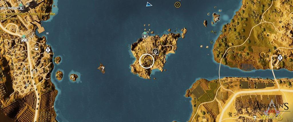 Localização e solução de todos os Papiros em Assassin's Creed Origins 117