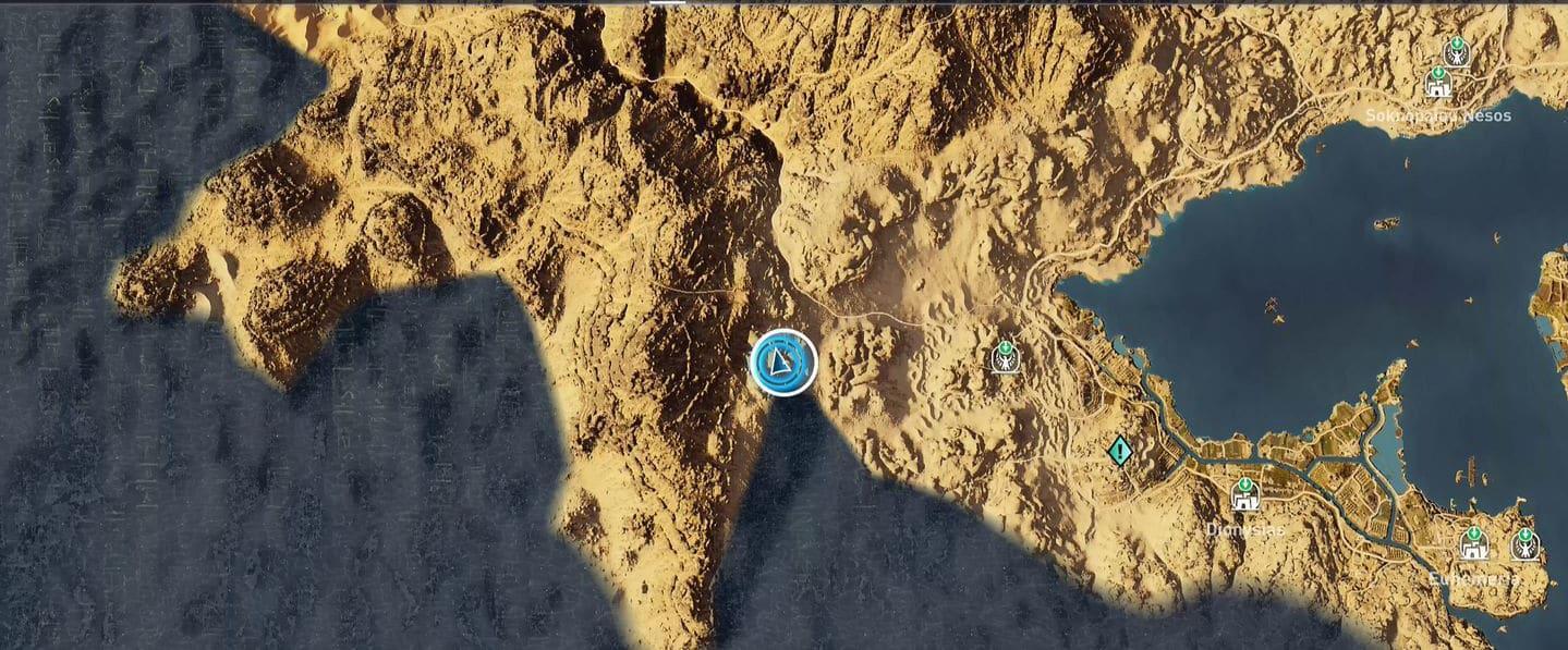 Localização e soluções das tumbas secretas em Assassin's Creed Origins 46