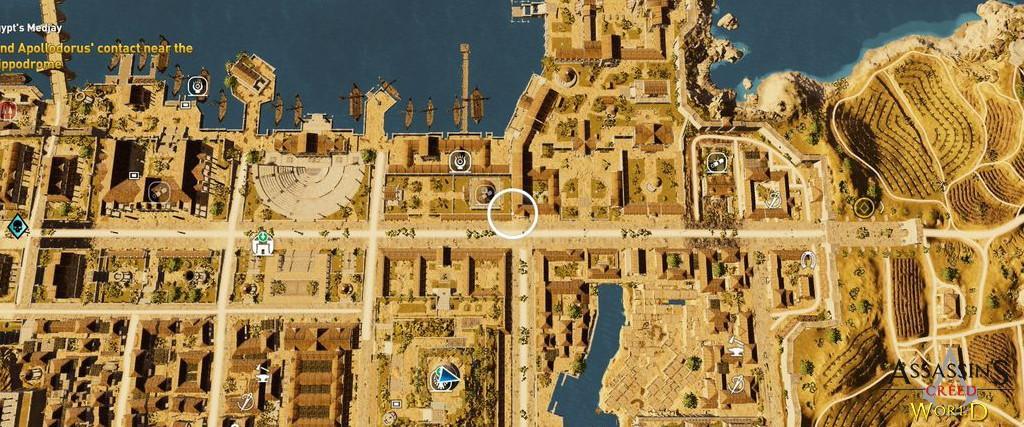 Localização e solução de todos os Papiros em Assassin's Creed Origins 119