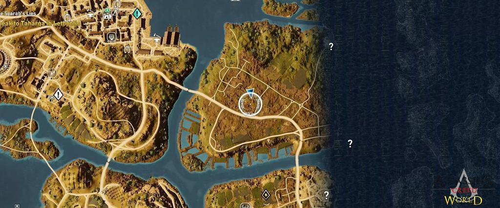 Localização e solução de todos os Papiros em Assassin's Creed Origins 125