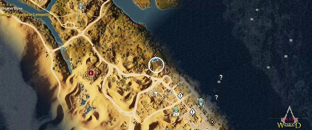 Localização e solução de todos os Papiros em Assassin's Creed Origins 129