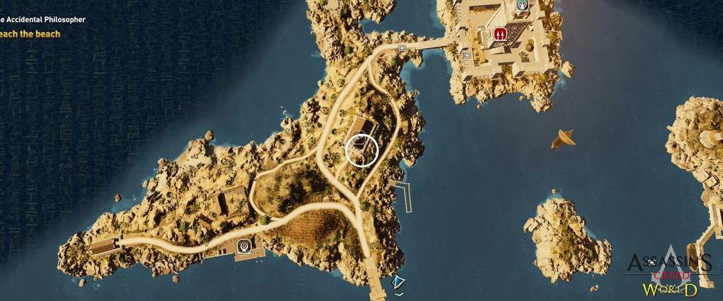 Localização e solução de todos os Papiros em Assassin's Creed Origins 131