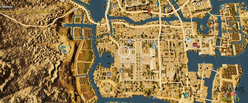 Localização e solução de todos os Papiros em Assassin's Creed Origins 135