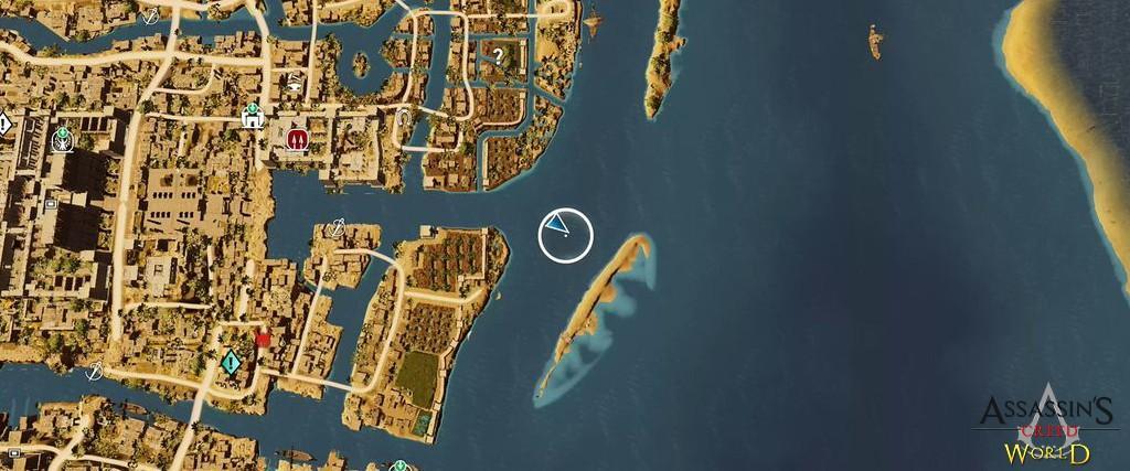 Localização e solução de todos os Papiros em Assassin's Creed Origins 137
