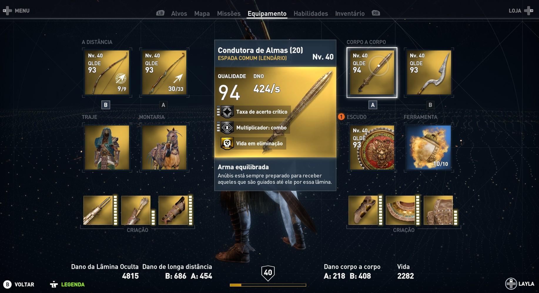 Como obter armas lendárias em Assassin's Creed Origins